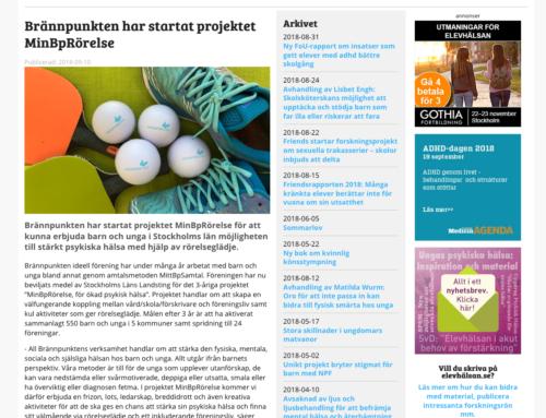 Elevhälsan.se skriver om MinBpRörelse